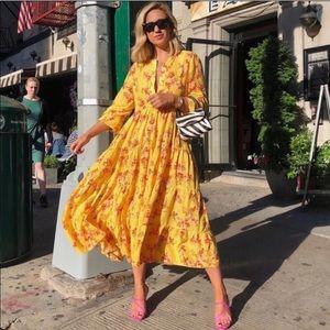 Zara Floral Ruffled Maxi Dress